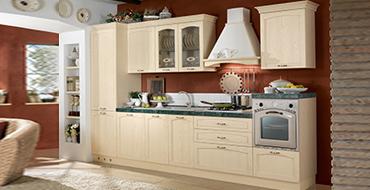 kuadra cucine composizione AMBRA avorio 370x190