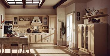 kuadra cucine composizione ARENA avorio 370x190