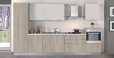 kuadra cucine composizione PRIME frassino bianco 370x190